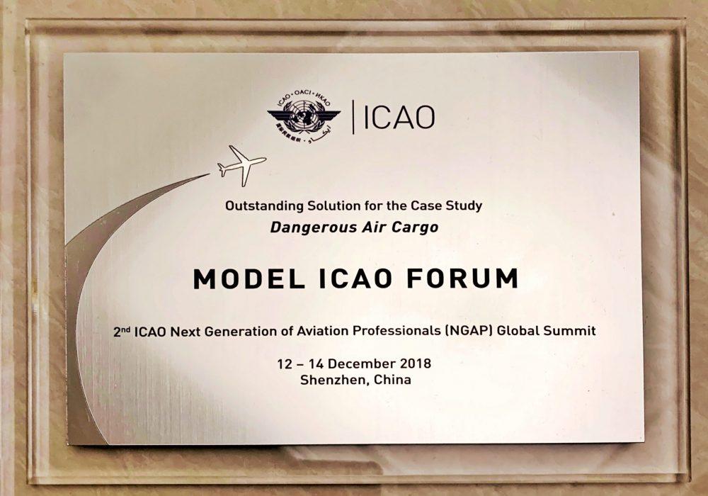 Best Solution, Model ICAO Forum (Team, 2018)